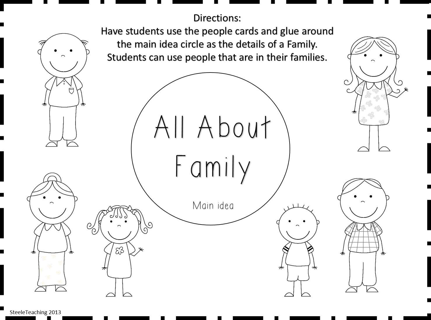 My Family Worksheet Kindergarten