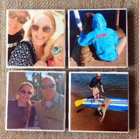 Tile Photo Coasters are a great way to share your special memories or give them as a cool photo gift!