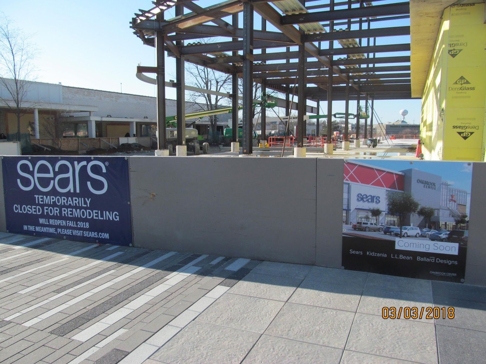Trip To The Mall Oakbrook Center Construction Progress 3 18