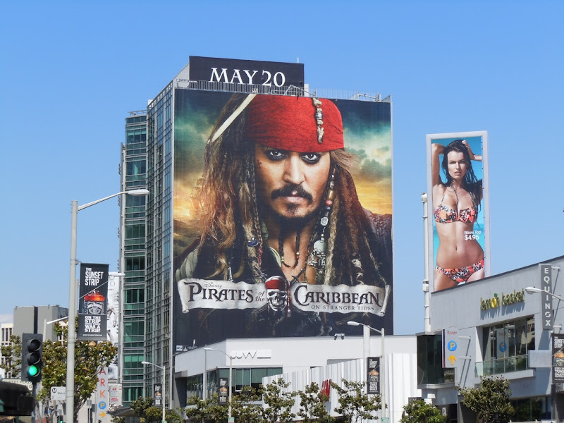 Johnny Depp Jack Sparrow billboard