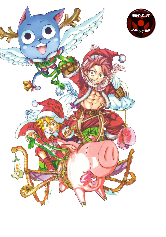 Fairy Tail x Nanatsu no Taizai render (Navidad)