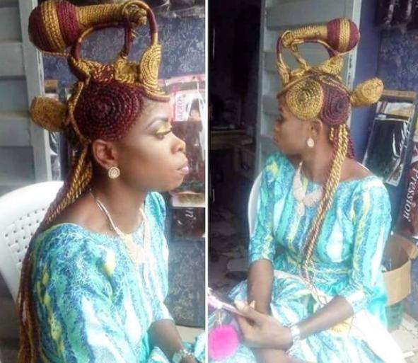 bizarre nigerian cornrow hairstyle
