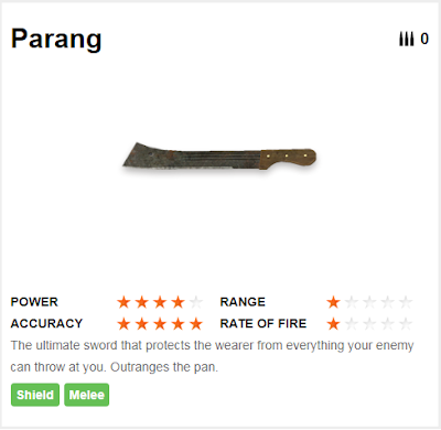 Deskripsi Senjata Parang di Free Fire