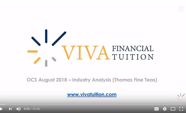 Industry Analysis OCS August 2018 Thomas fine Teas -  Pre seen video Preview from VIVA - CIMA