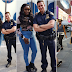 Bisola enjoying new york as she poses with New York city policemen (Photos)