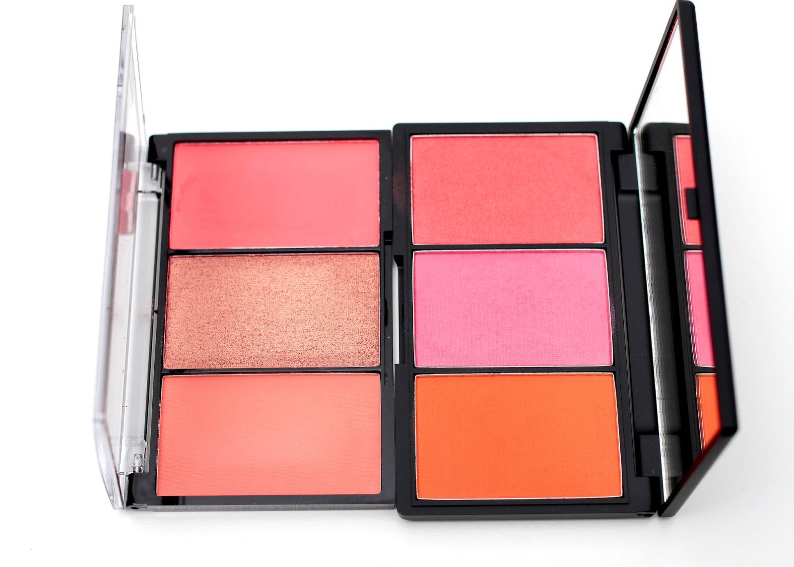 BYS 3 Blush Palette in Coral Me In next to Sleek blush by 3 in pumpkin