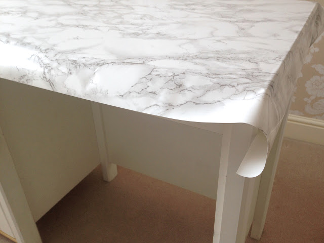 Marble table contact paper