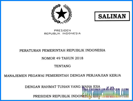 PP No 49 tahun 2018