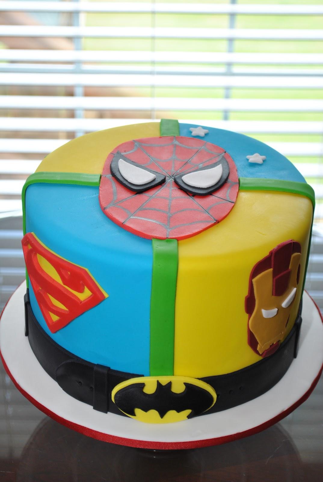 Wick'd Cakes: Superhero Cake  |Superhero Cakes