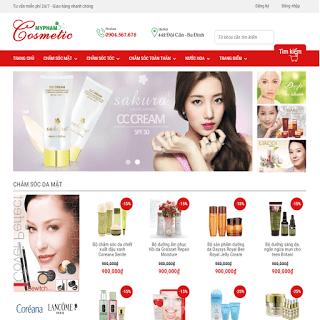 template bán hàng mỹ phẩm cosmetic