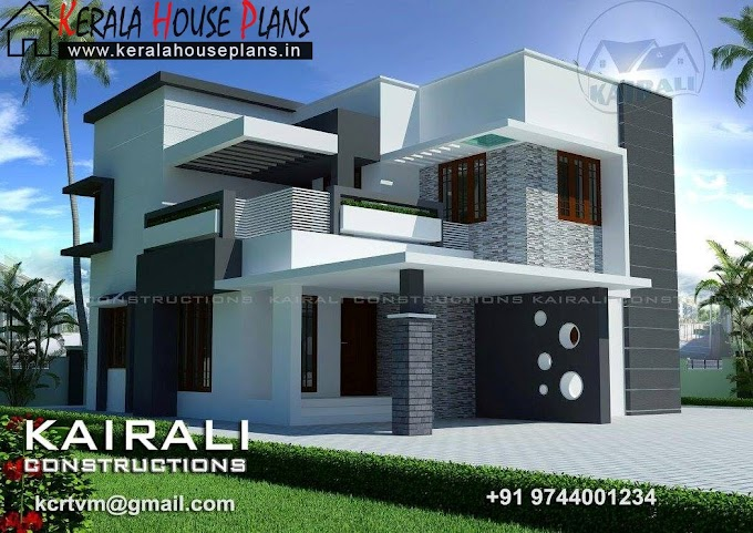 Kerala house plans with 4 bedrooms in 1830 Sqft