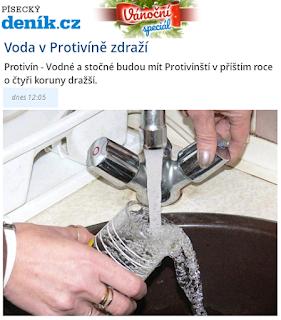 Voda v Protivíně podraží