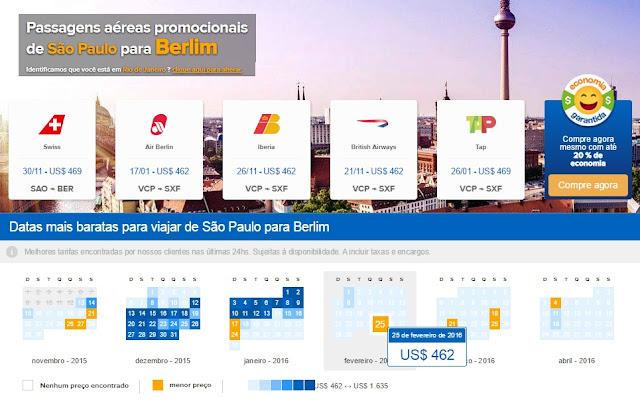 Passagem aérea promocional para Berlim