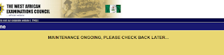 WAEC Result Checker Portal In Maintenance Mode- Students Urged To Check Back Later
