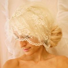 short veil wedding look