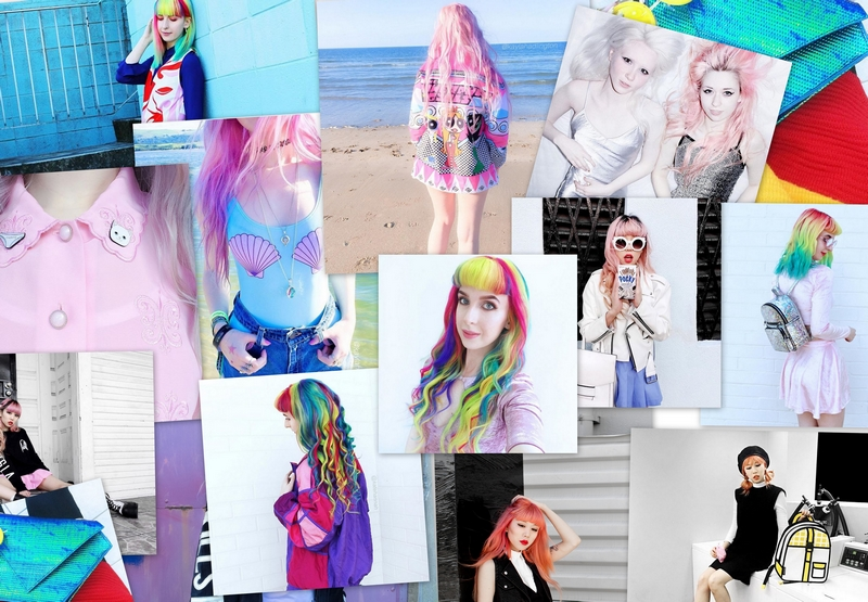5 filles avec un look alternatifs postant sur Lookbook