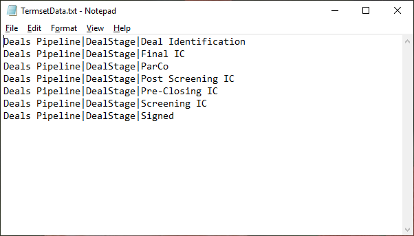 export term set using powershell