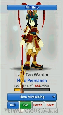 Tao Warrior Evolution LostSaga Indonesia