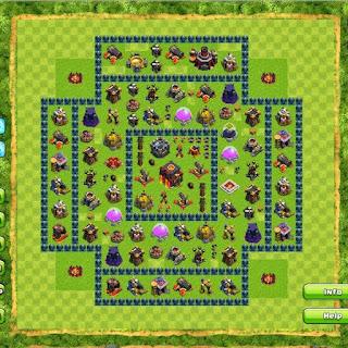 Update Clash Of Clans Base Town Hall 1-10 Terkuat Dan Terbaik 2015