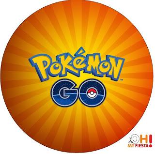 Toppers o etiquetas de Pokemon Go para imprimir gratis.
