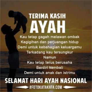 kata-kata Ucapan Selamat Hari Ayah Nasional 2017