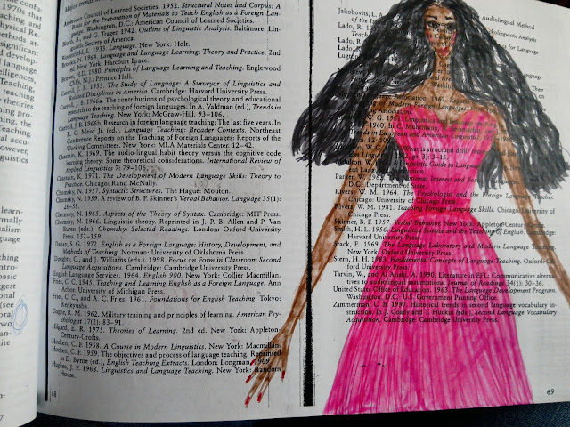 pink gown illustration