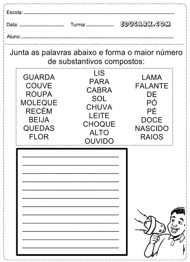 Arrastar e Soltar: Substantivos Próprios - sol.eti.br
