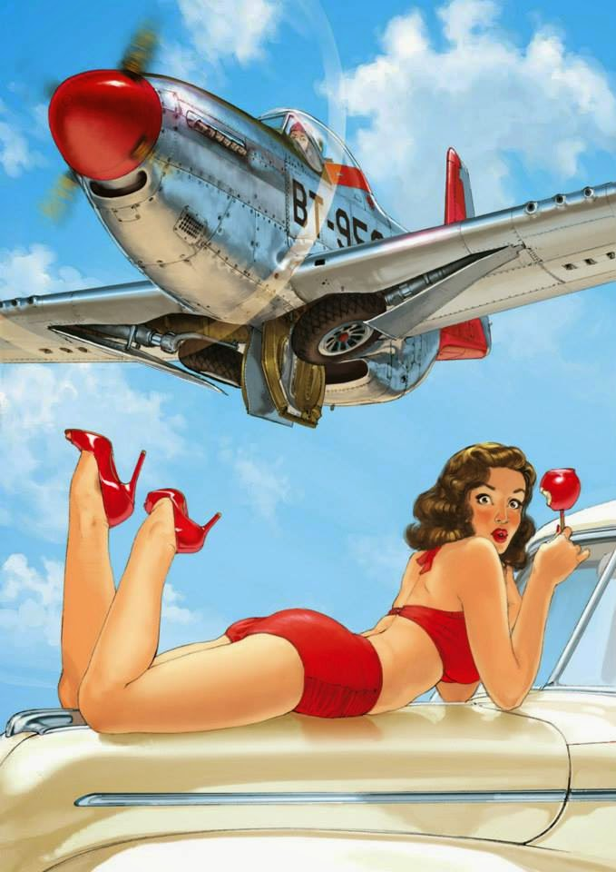 Pin Up Girl Art Vintage Wallpaper Romain Hugault Art 8negro