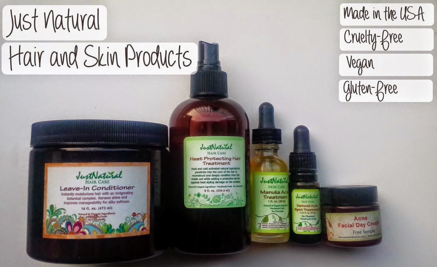 Natural Beauty Just Natural Hair And Skin Products Review