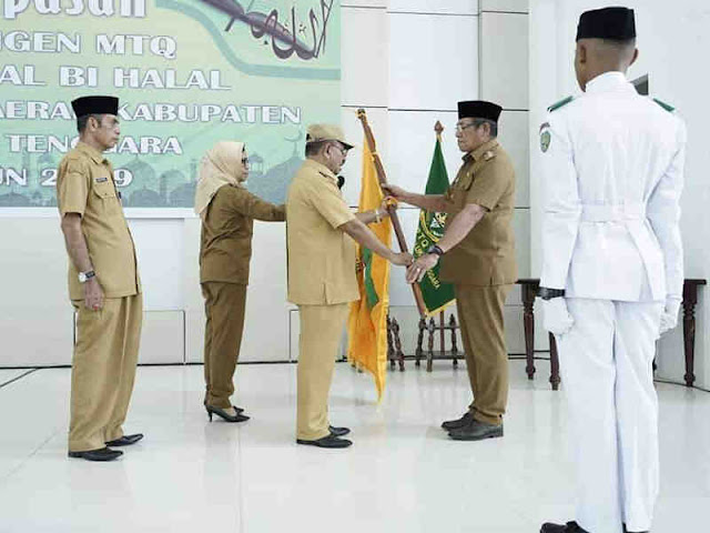 Petrus Beruatwarin Melepas Peserta Kontingen MTQ Maluku Tenggara