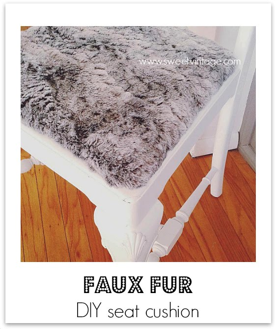 how to make a faux fur seat cushion cover