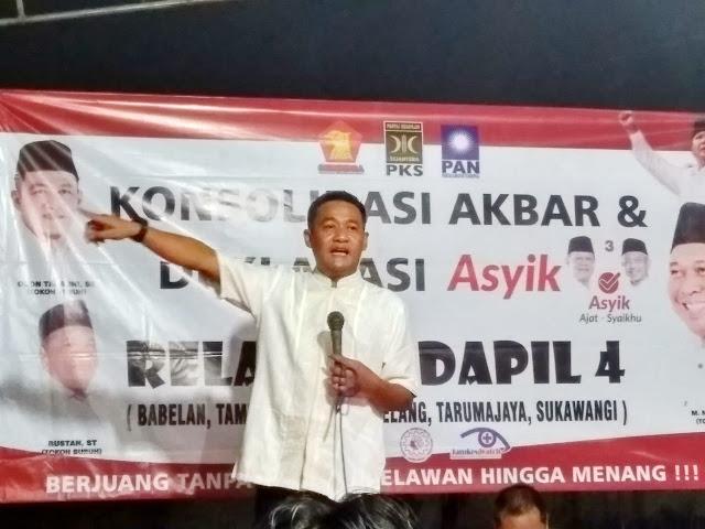 Relawan Dapil 4 Gelar Konsolidasi Akbar & Deklarasi Pemenangan Cagub Asyik