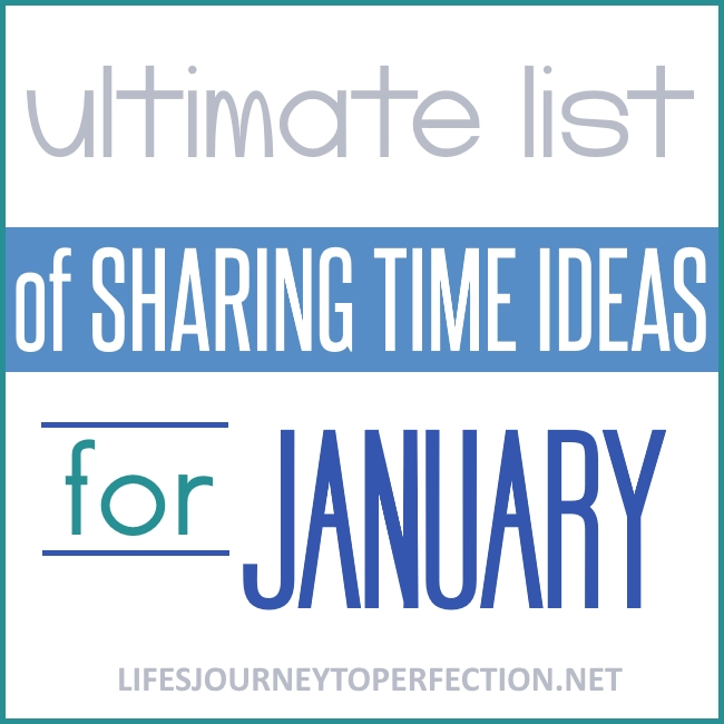 life s journey to perfection sharing time ideas for 2018