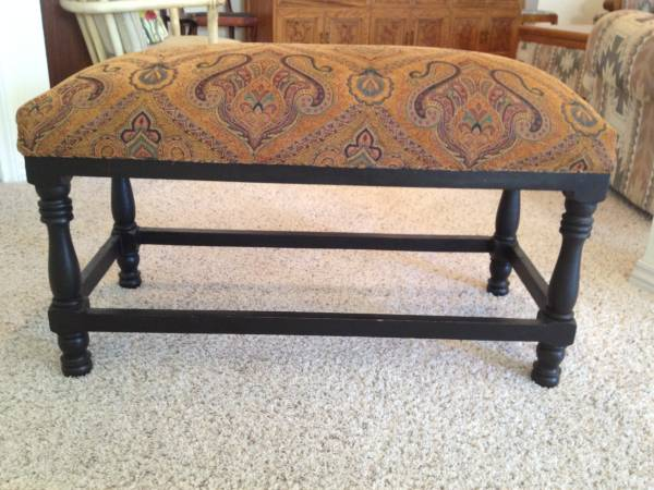 Craigslist furniture find - upholstered bench