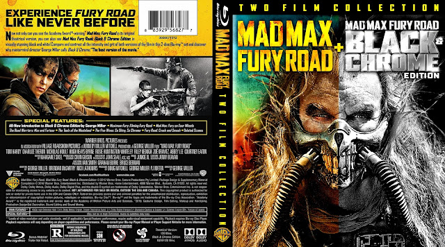 Mad Max: Fury Road /Fury Road Black & Chrome Two Film Collection Bluray Cover