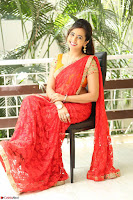 Lasya Cute Beauty in Saree Backless Choli at her Interview ~  Exclusive 036.JPG