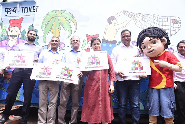 Viacom18 inaugurates art-inspired toilets it has built in Bandra West as a part of the Chakachak Mumbai Campaign