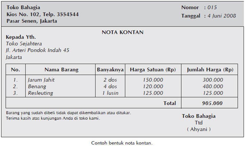 Transaksi, Bukti dan Analisis Transaksi ~ Kenali Akuntansi ...