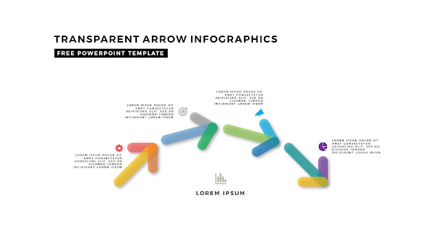 Transparent Arrow Design Elements for Free PowerPoint Template Slide 5
