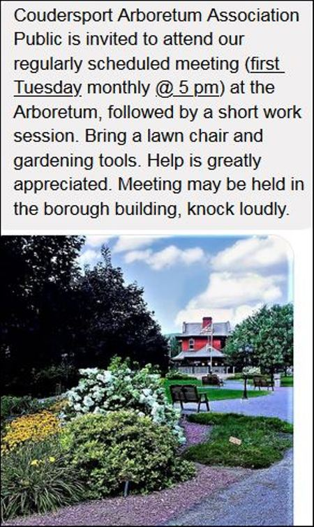 8-4 Arboretum Meeting, Coudersport
