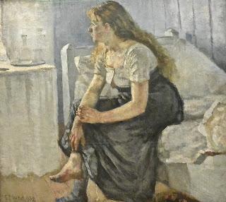 Norvège musées des beaux-Arts de bergen Edvard Munch Matin (1884)