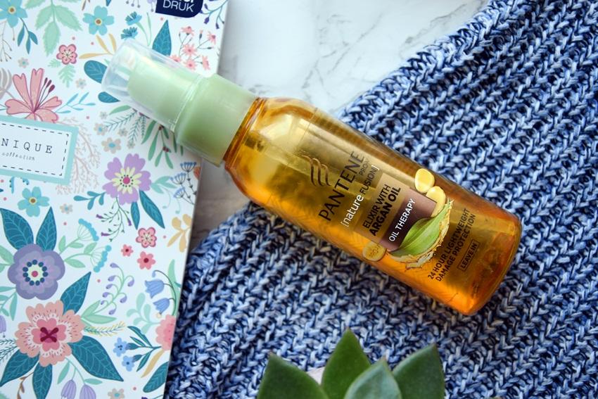 olejek do włosów z olejkiem arganowym pantene