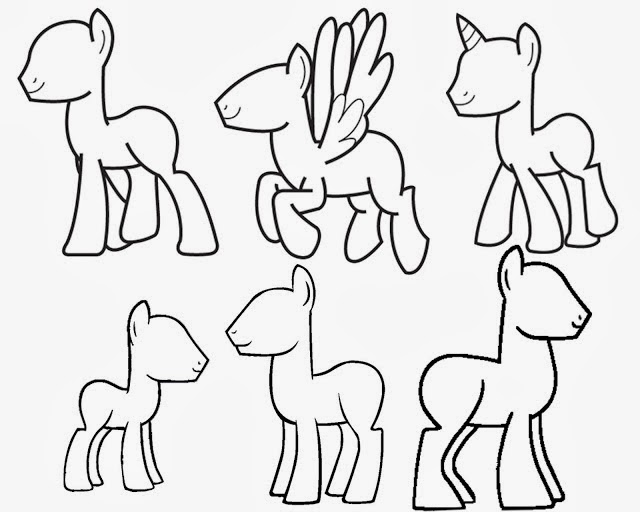 my little pony blank pony coloring pages | MLP Inspirations: Coloring Pages