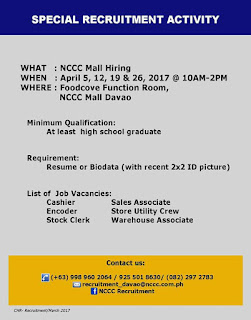 http://www.davaojobsopportunities.com/2017/03/nccc-mall-of-davao-is-hiring.html