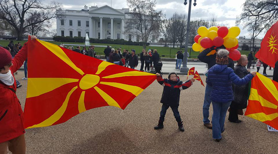 Pic of the Day - Macedonian Flag in front of White House