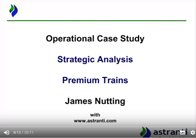 Strategic analysis of OCS August 2017 video - Premium Trains - CIMA Operational case study
