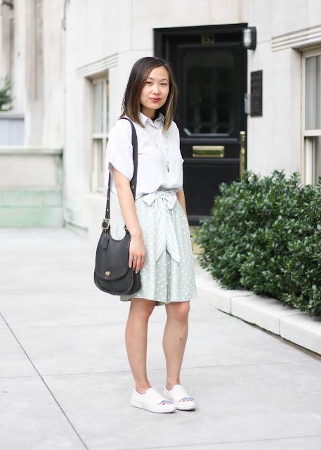 Modern Vintage Style Outfit Polka Dot Shorts