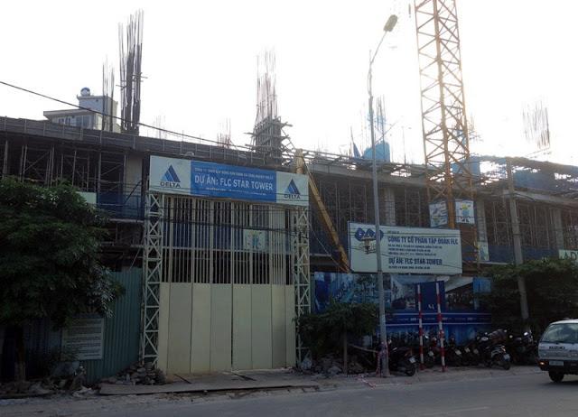 Công trường thi công tại chung FLc Star Tower