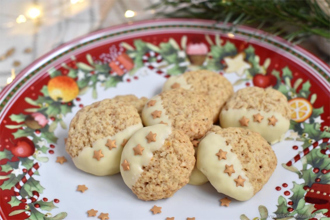 Weihnachtsbäckerei - Rezept für Kokos-Zitronen-Cookies