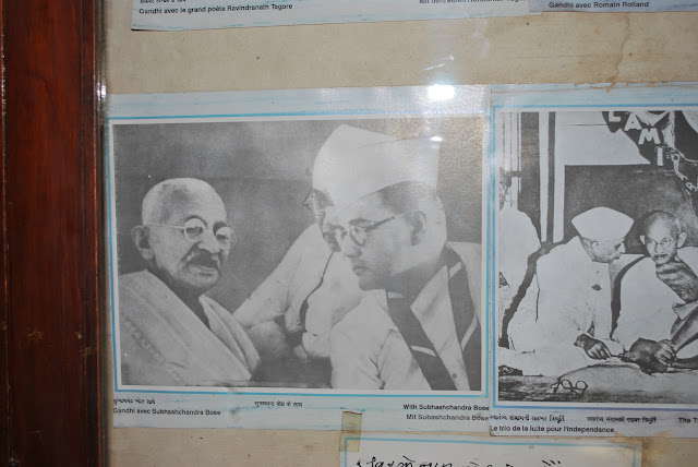 pic of gandhi ji with neta ji, kirti mandir, porbandar